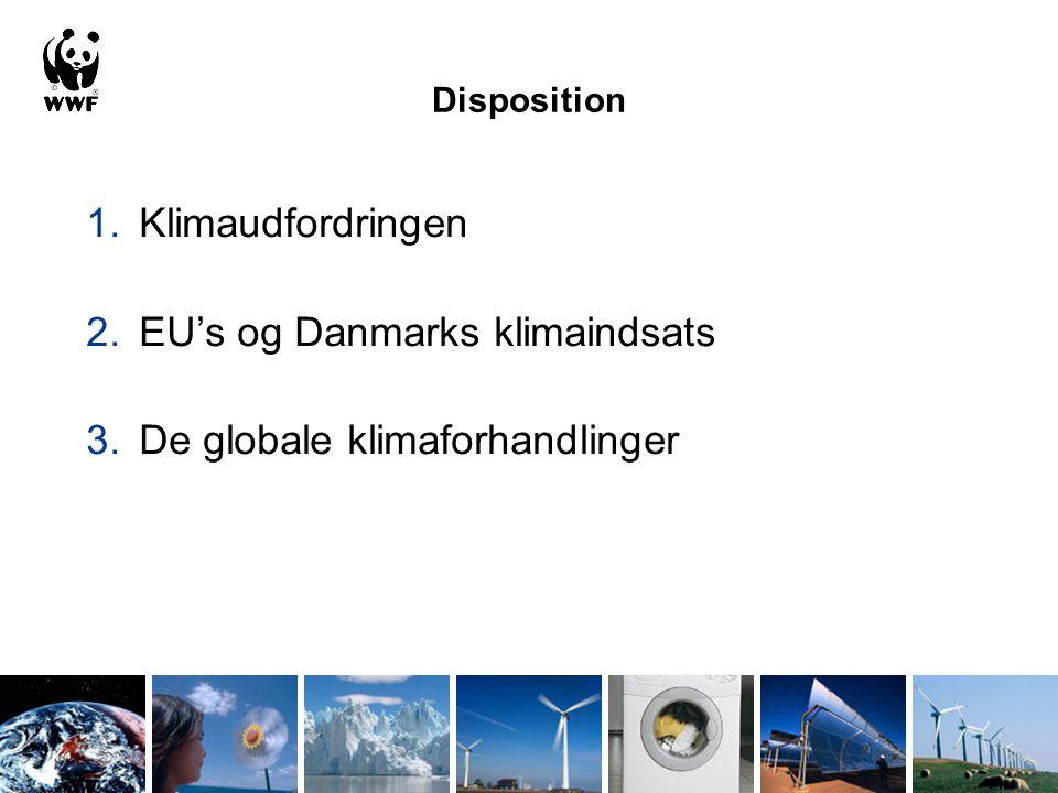 Disposition 1.Klimaudfordringen 2.EU's og Danmarks klimaindsats 3.De globale klimaforhandlinger