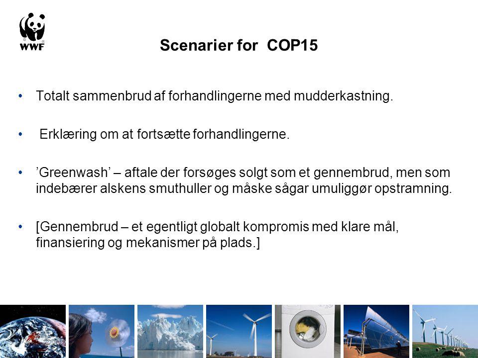 Scenarier for COP15 Totalt sammenbrud af forhandlingerne med mudderkastning.