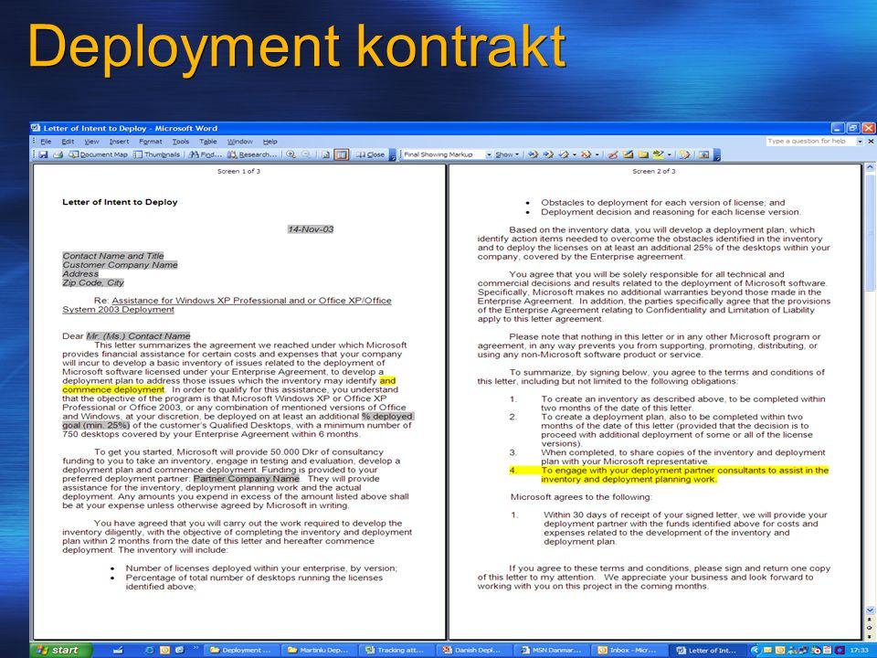 Deployment kontrakt