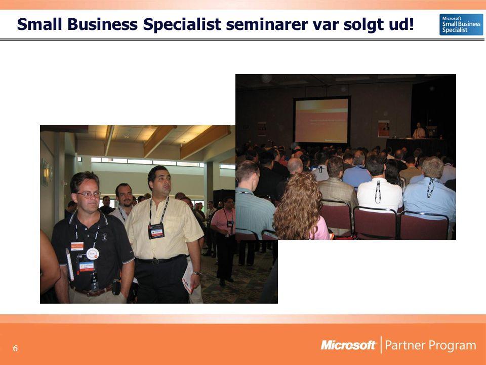 6 Small Business Specialist seminarer var solgt ud!