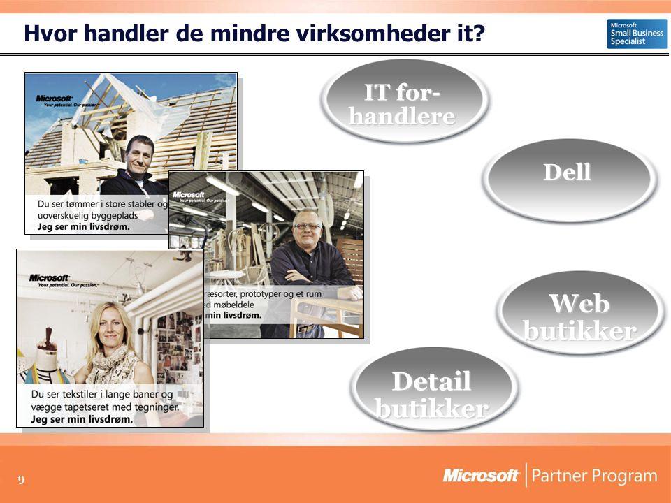 9 Detail butikker IT for- handlere Dell Hvor handler de mindre virksomheder it Web butikker