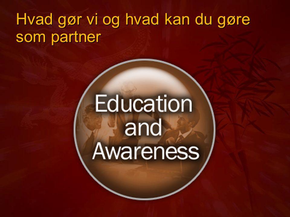 Hvad gør vi og hvad kan du gøre som partner