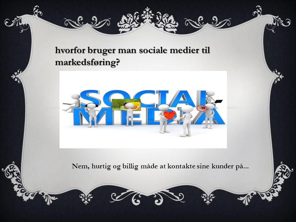 hvorfor bruger man sociale medier til markedsføring.