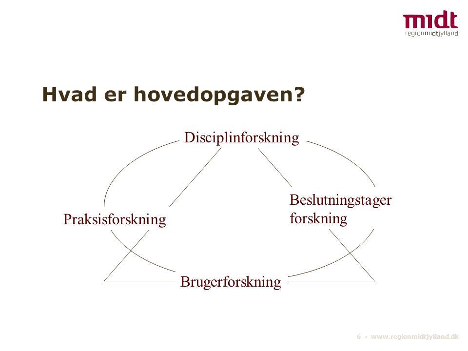 6 ▪ www.regionmidtjylland.dk Hvad er hovedopgaven.