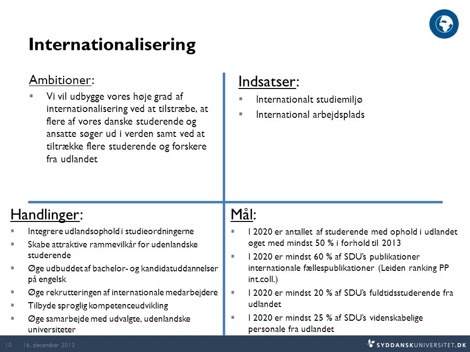 Internationalisering 16.