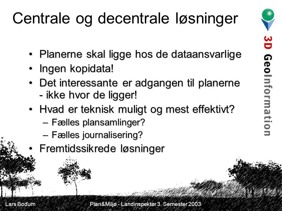 Lars Bodum Plan&Miljø - Landinspektør 3.
