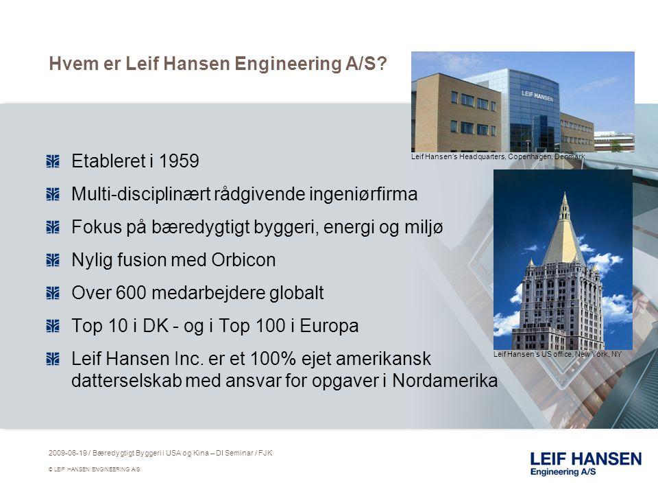 Hvem er Leif Hansen Engineering A/S.