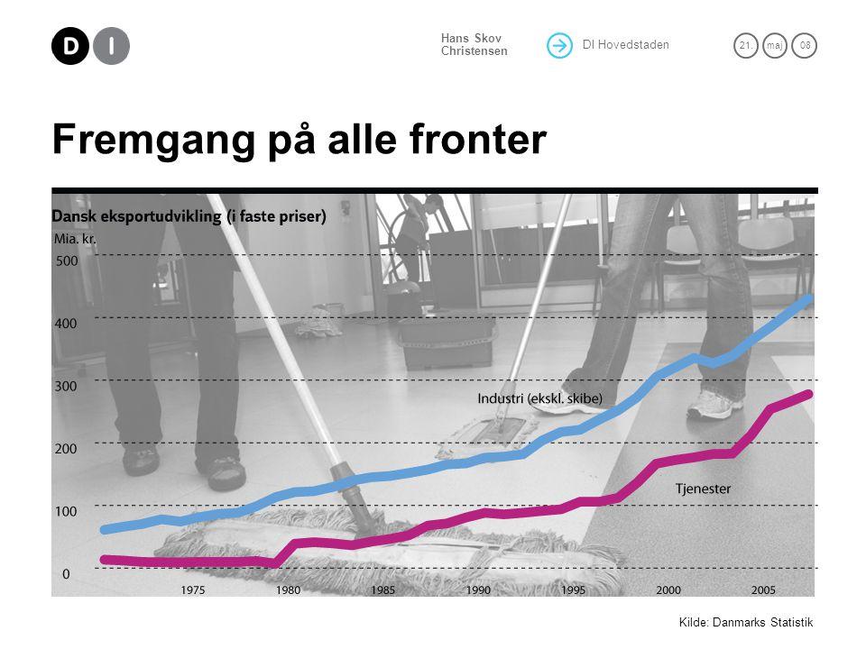 DI Hovedstaden 21.maj 08 Hans Skov Christensen Fremgang på alle fronter Kilde: Danmarks Statistik