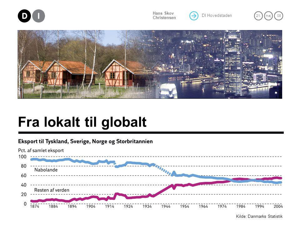 DI Hovedstaden 21.maj 08 Hans Skov Christensen Fra lokalt til globalt Kilde: Danmarks Statistik