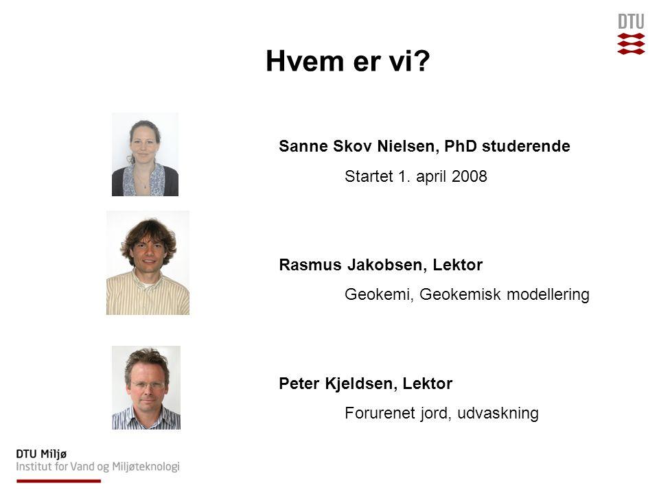 Hvem er vi. Sanne Skov Nielsen, PhD studerende Startet 1.
