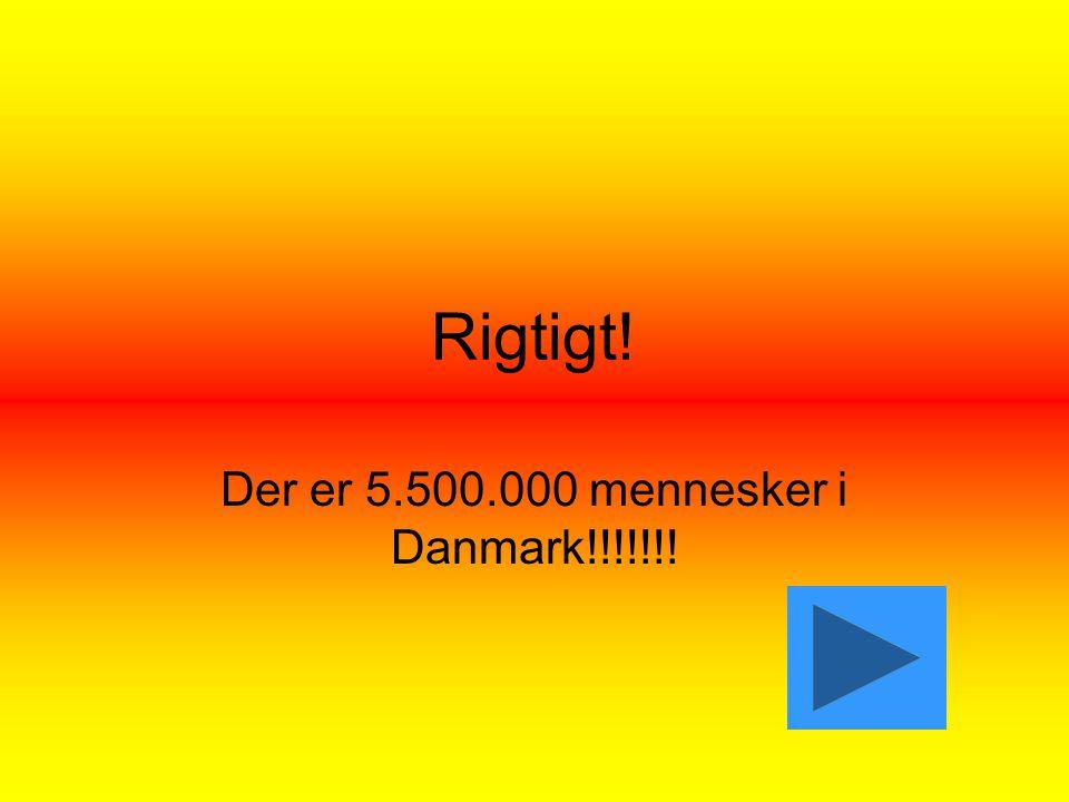 Rigtigt! Der er 5.500.000 mennesker i Danmark!!!!!!!