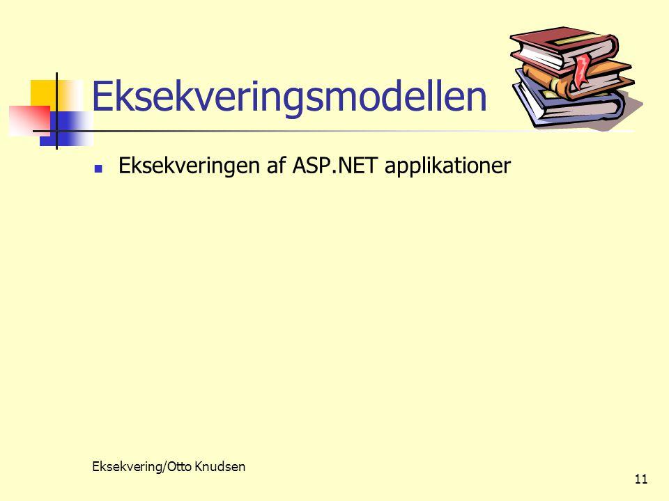 Eksekvering/Otto Knudsen 11 Eksekveringsmodellen Eksekveringen af ASP.NET applikationer
