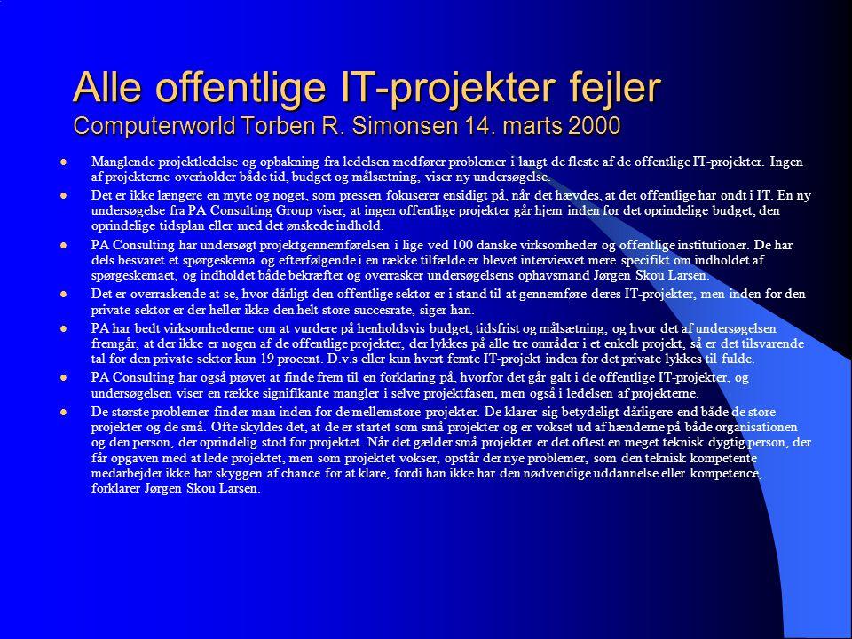Alle offentlige IT-projekter fejler Computerworld Torben R.