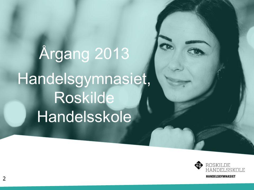 Årgang 2013 Handelsgymnasiet, Roskilde Handelsskole 2
