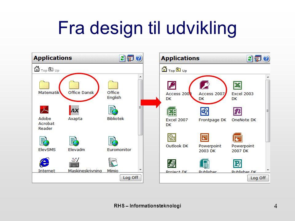 RHS – Informationsteknologi 4 Fra design til udvikling