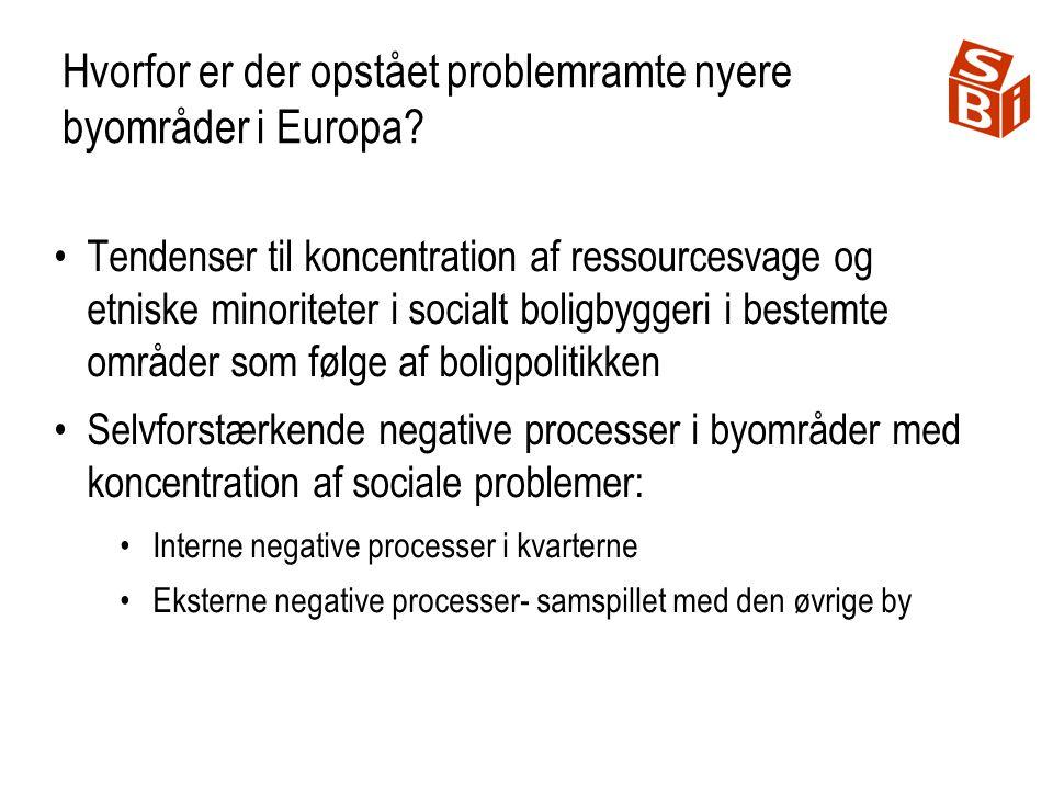 Hvorfor er der opstået problemramte nyere byområder i Europa.