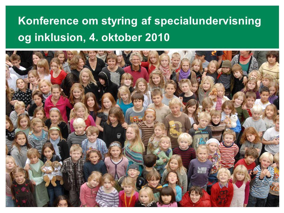 Konference om styring af specialundervisning og inklusion, 4. oktober 2010