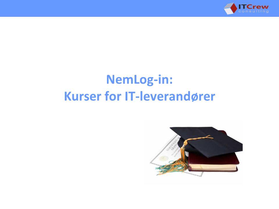 NemLog-in: Kurser for IT-leverandører