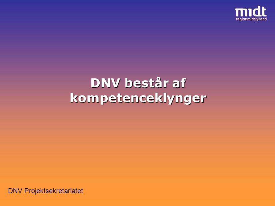 DNV Projektsekretariatet DNV består af kompetenceklynger