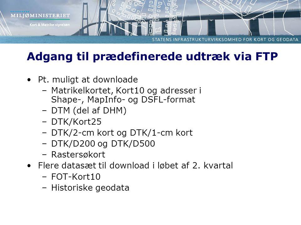 Adgang til prædefinerede udtræk via FTP Pt.