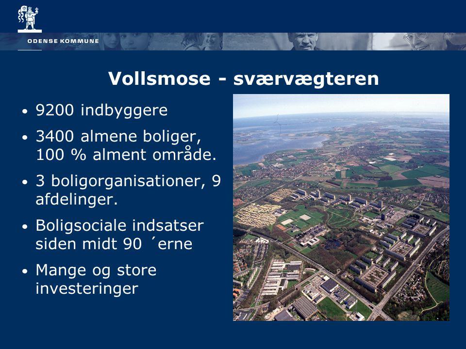 9200 indbyggere 3400 almene boliger, 100 % alment område.