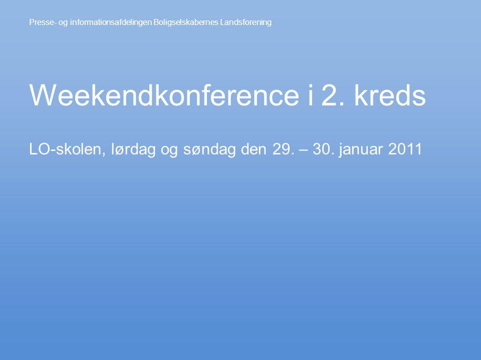 Weekendkonference i 2. kreds LO-skolen, lørdag og søndag den 29.