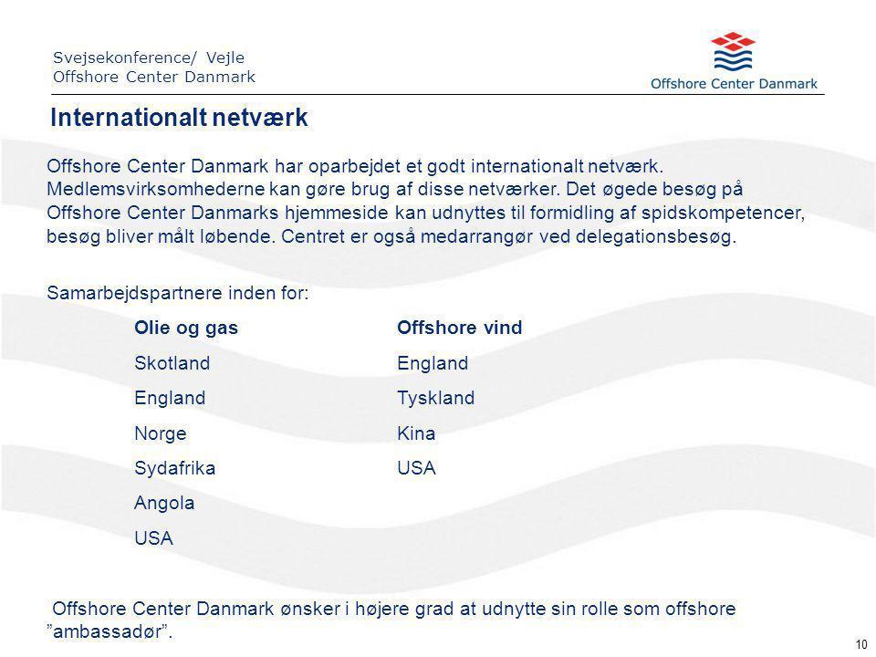 10 Offshore Center Danmark har oparbejdet et godt internationalt netværk.
