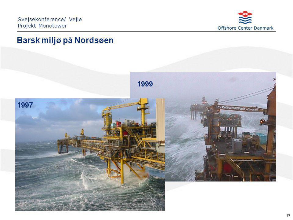 13 1999 1997 Barsk miljø på Nordsøen Svejsekonference/ Vejle Projekt Monotower