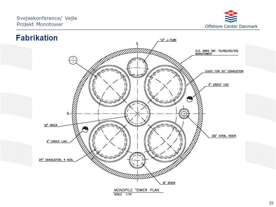 25 Fabrikation Svejsekonference/ Vejle Projekt Monotower