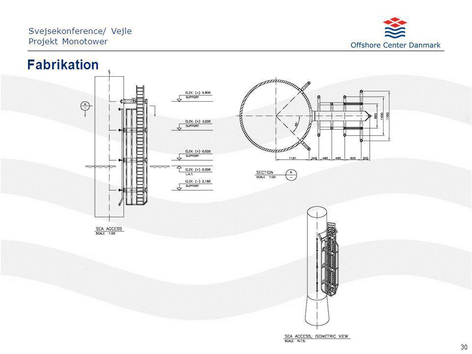 30 Fabrikation Svejsekonference/ Vejle Projekt Monotower