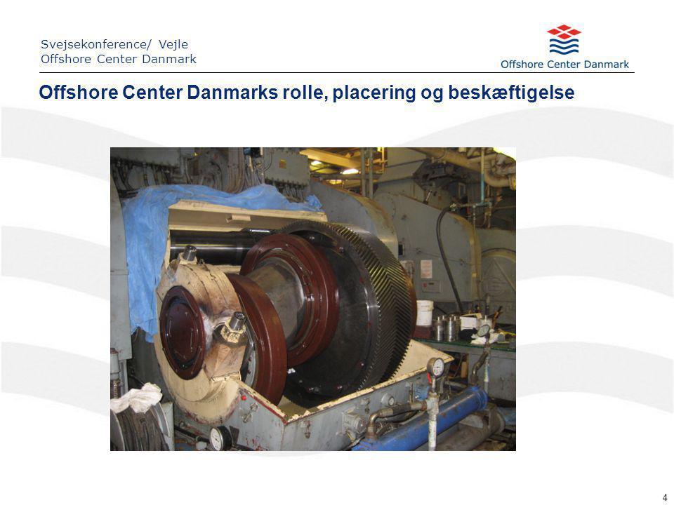 4 Offshore Center Danmarks rolle, placering og beskæftigelse Svejsekonference/ Vejle Offshore Center Danmark