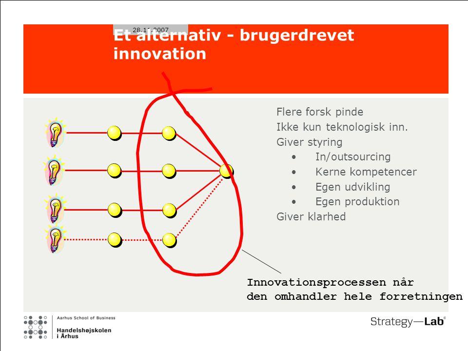 28.11.2007 Et alternativ - brugerdrevet innovation Flere forsk pinde Ikke kun teknologisk inn.