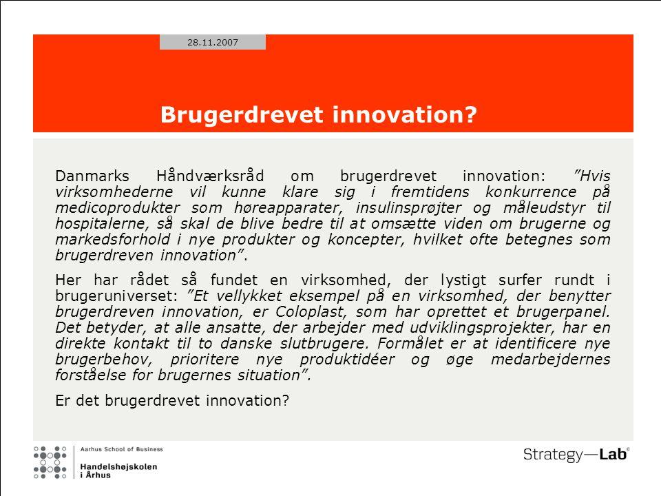 28.11.2007 Brugerdrevet innovation.