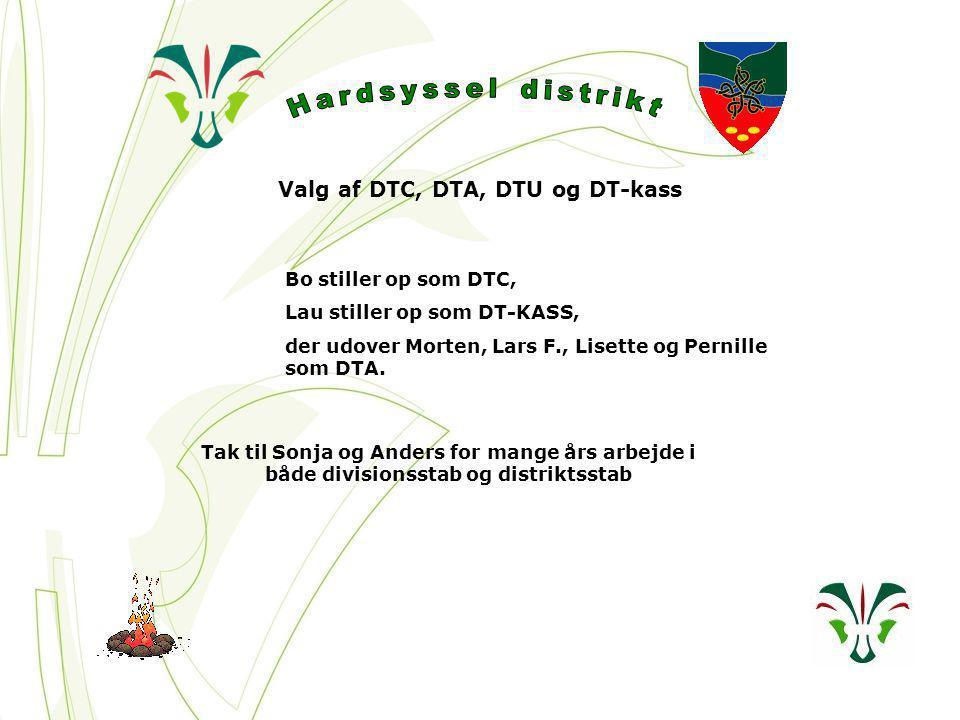 Valg af DTC, DTA, DTU og DT-kass Bo stiller op som DTC, Lau stiller op som DT-KASS, der udover Morten, Lars F., Lisette og Pernille som DTA.