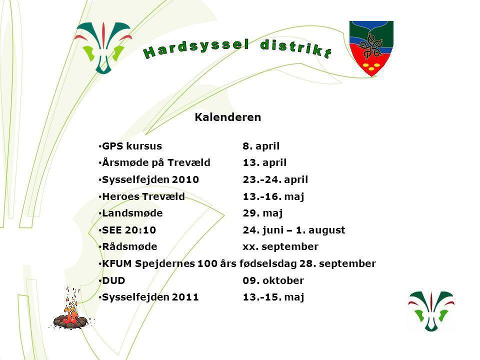 Kalenderen GPS kursus8. april Årsmøde på Trevæld13.