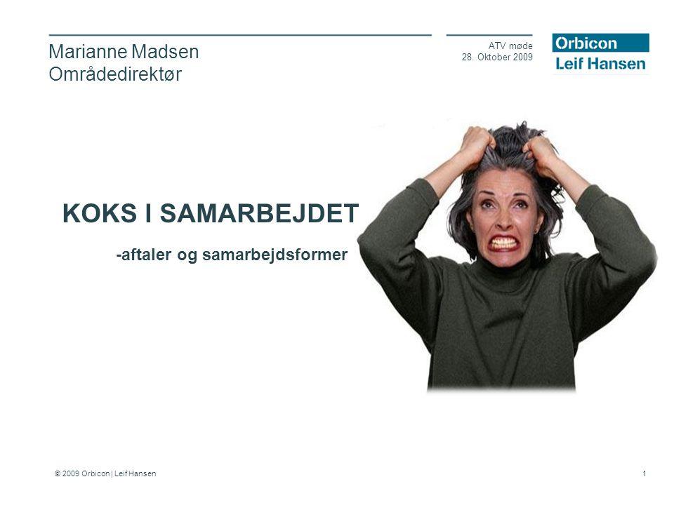 © 2009 Orbicon | Leif Hansen 1 Marianne Madsen Områdedirektør ATV møde 28.