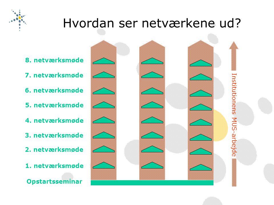 Hvordan ser netværkene ud. Opstartsseminar 1. netværksmøde 2.