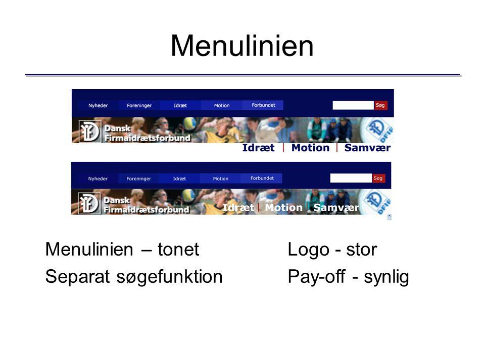Menulinien Menulinien – tonetLogo - stor Separat søgefunktionPay-off - synlig