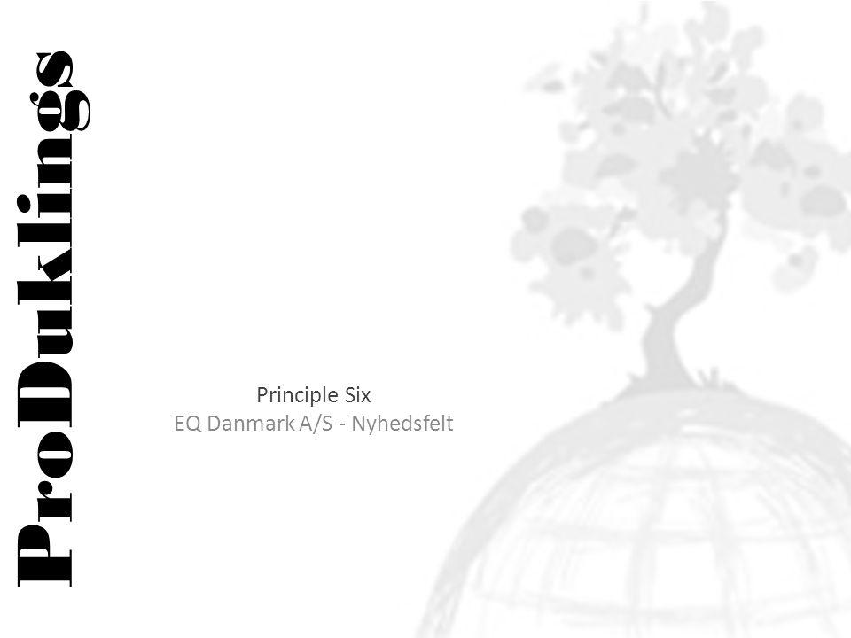 ProDuklings Principle Six EQ Danmark A/S - Nyhedsfelt
