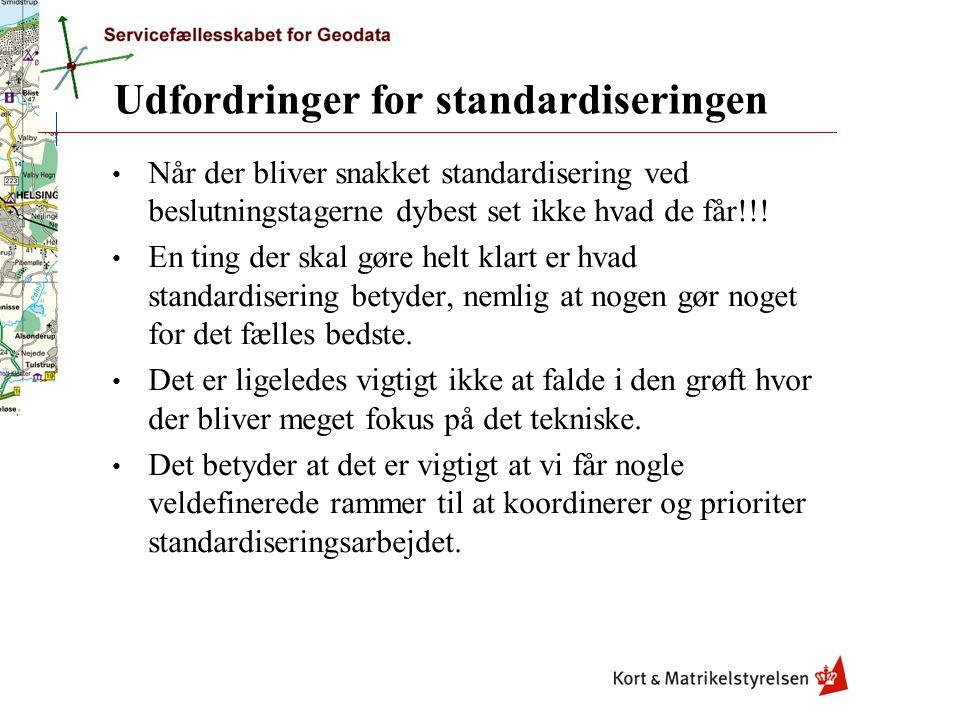 Udfordringer for standardiseringen Når der bliver snakket standardisering ved beslutningstagerne dybest set ikke hvad de får!!.