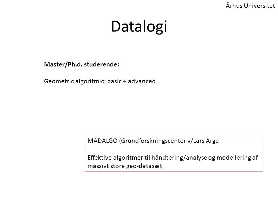 Datalogi Master/Ph.d.