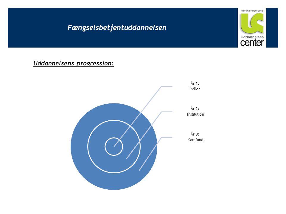 Fængselsbetjentuddannelsen År 1: Individ År 2: Institution År 3: Samfund Uddannelsens progression: