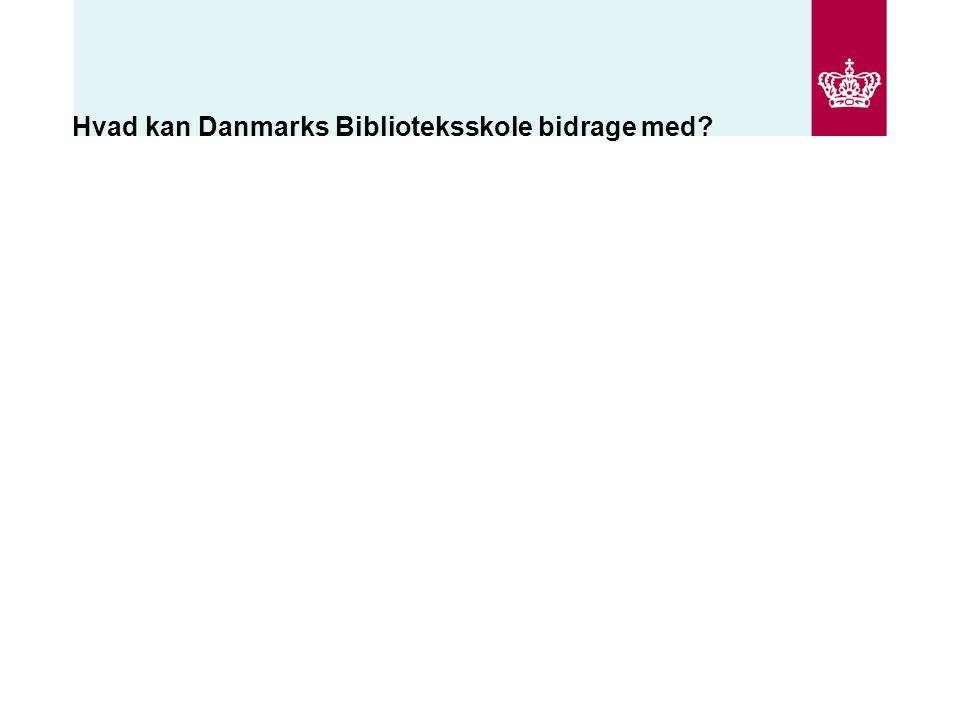 Hvad kan Danmarks Biblioteksskole bidrage med