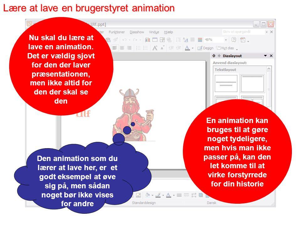 Brugerstyret animation