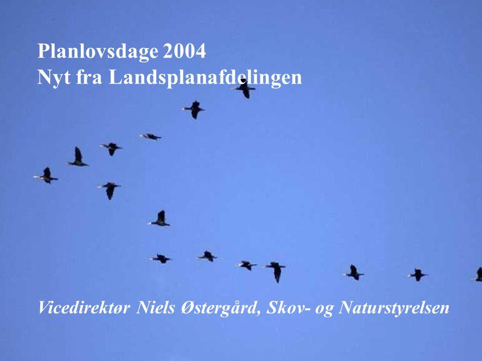 www.lpa.dk Planlovsdage 2004 Nyt fra Landsplanafdelingen Vicedirektør Niels Østergård, Skov- og Naturstyrelsen