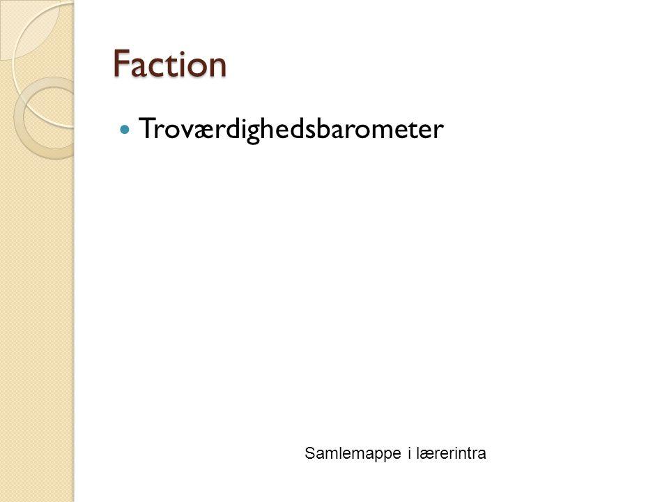 Faction Troværdighedsbarometer Samlemappe i lærerintra