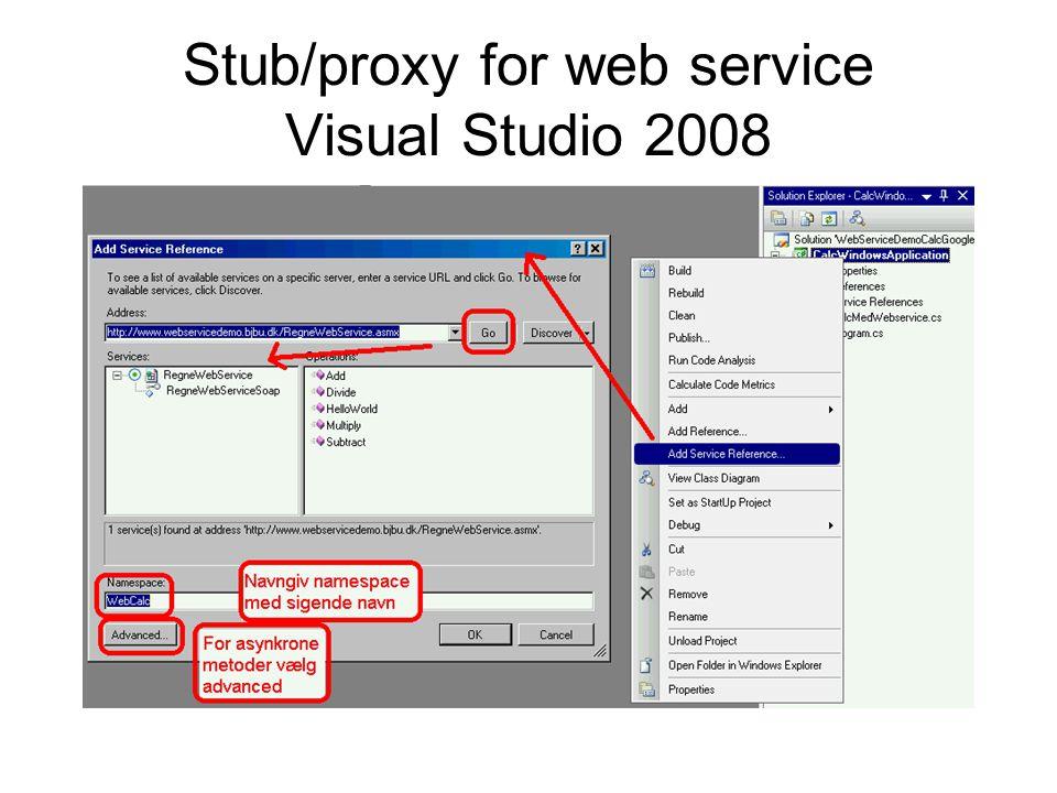 Stub/proxy for web service Visual Studio 2008