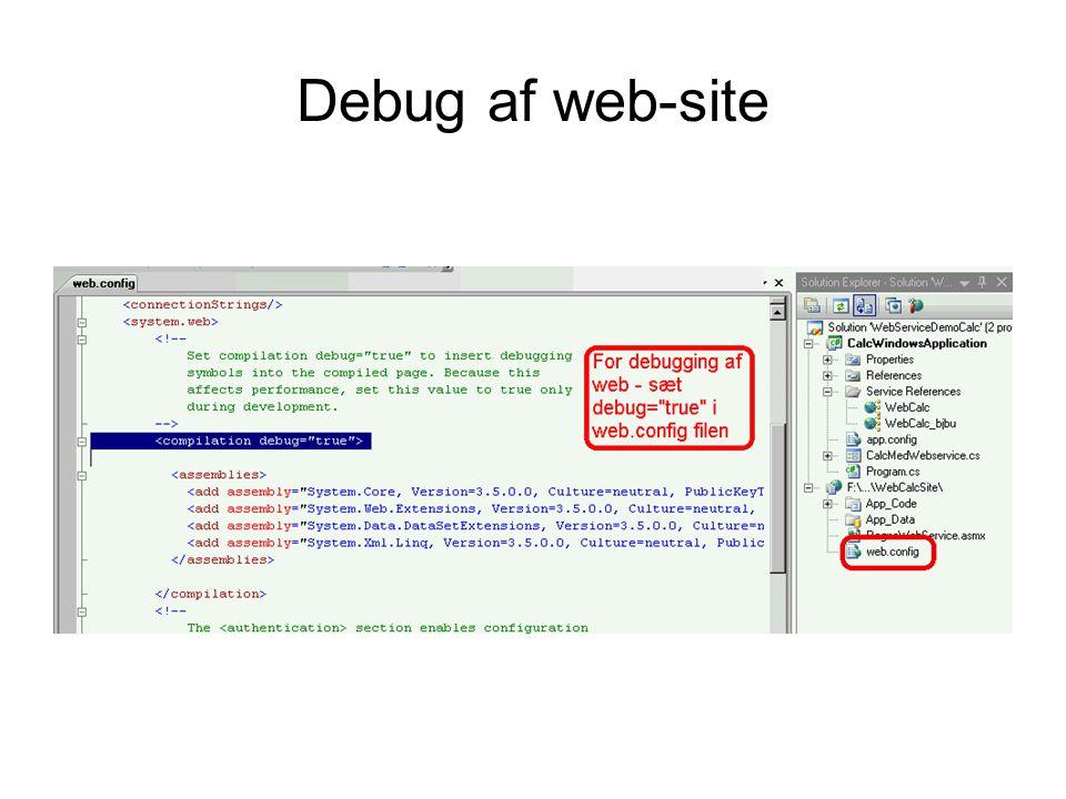 Debug af web-site