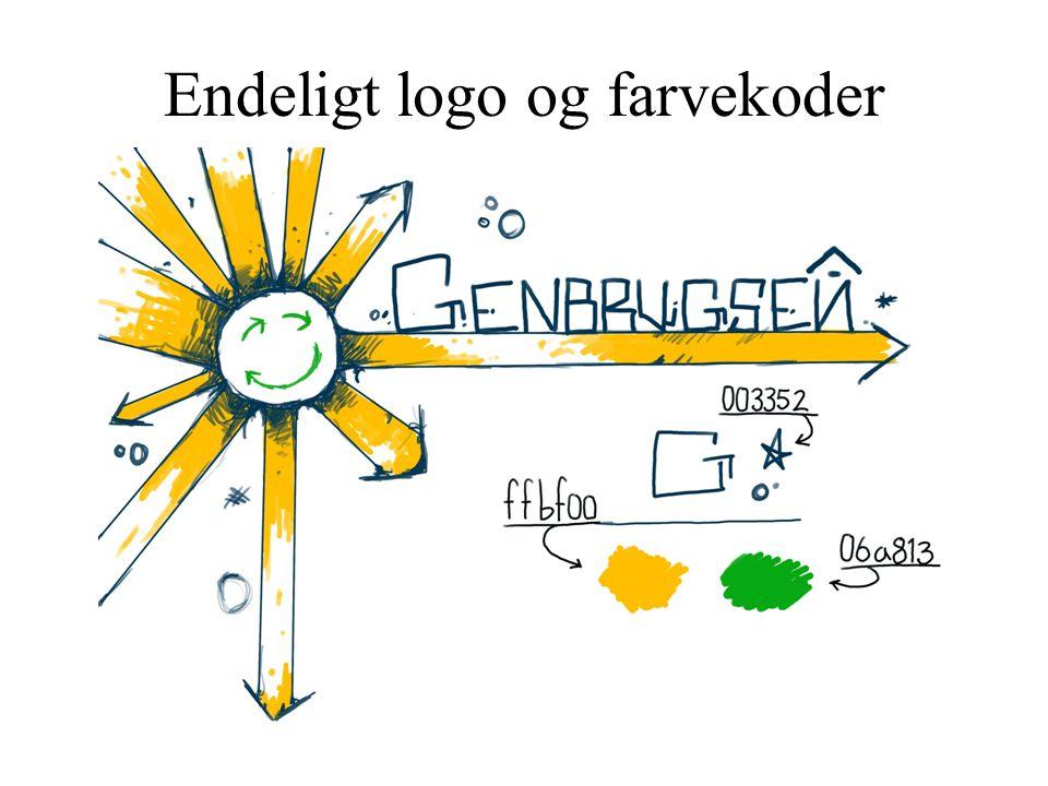 Endeligt logo og farvekoder