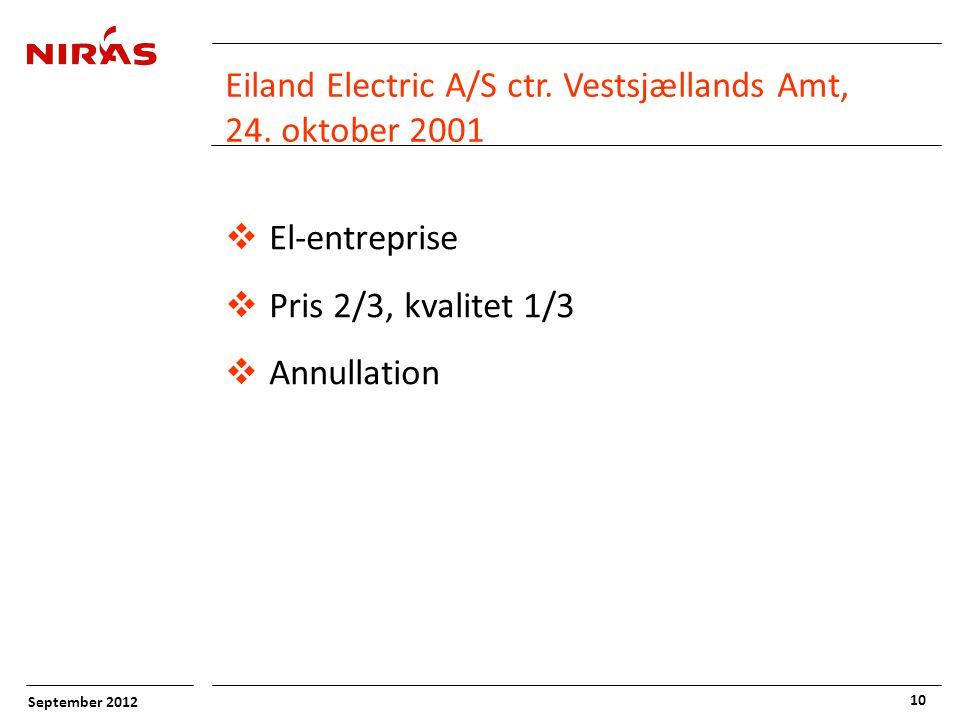 September 2012 10 Eiland Electric A/S ctr. Vestsjællands Amt, 24.